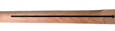 La ligne au dos du manche d'une guitare