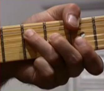 Exemple de barré à la Hendrix