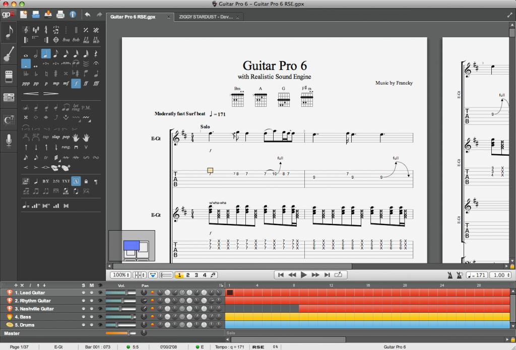 Guitar Pro, le leader du logiciel de tablatures pour la guitare