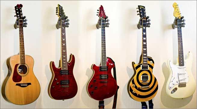 3 mod les cools de support mural pour guitare. Black Bedroom Furniture Sets. Home Design Ideas
